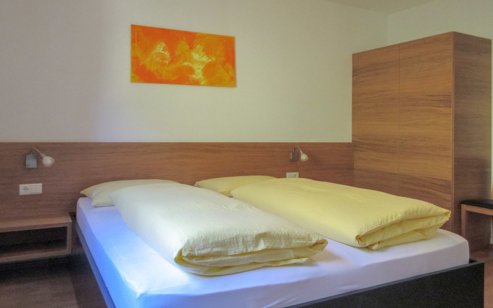Schlafzimmer der Wohnung Talblick