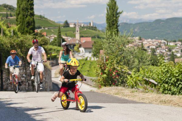 Radfahren mit Familie